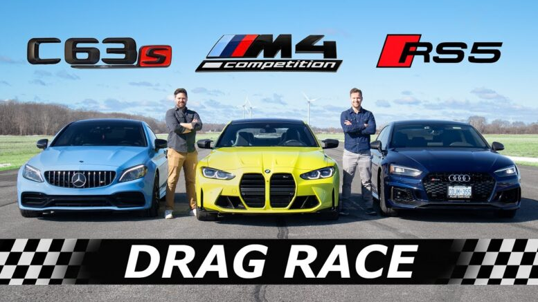 Nuova BMW M4 Competition vs Mercedes-AMG C63 S vs Audi RS5