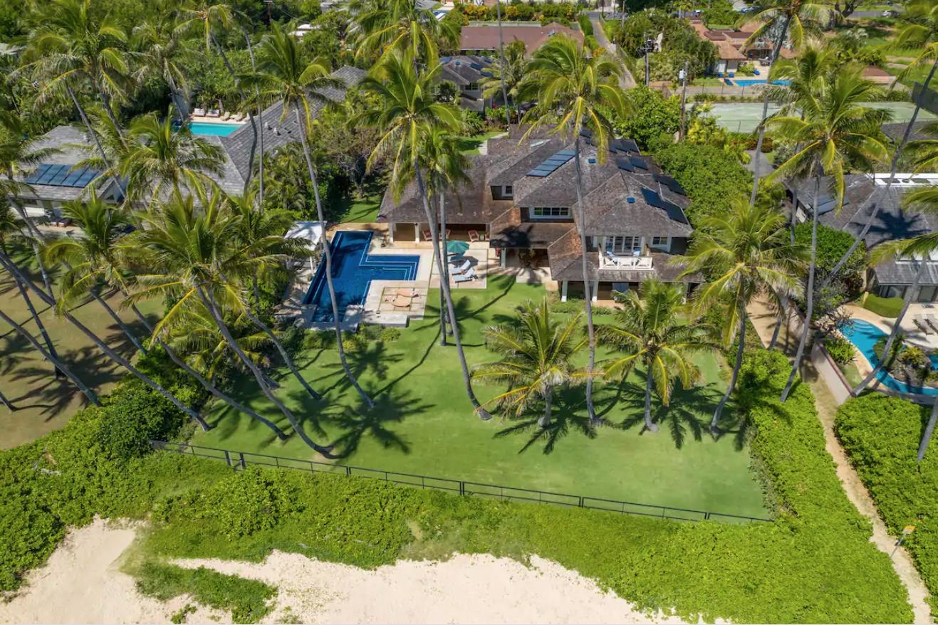 Vista aerea della casa da sogno mega-mansion