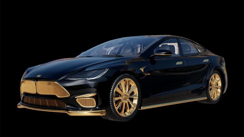 La Tesla più costosa al mondo viene revisionata in oro 24K